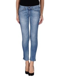 Liu Jeans Denim Capris Blue