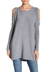 Luma Cold Shoulder Long Sleeve Sweater Gray