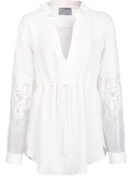 Maiyet Cascade Collar Blouse White