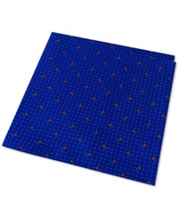 Tommy Hilfiger Men's Flower Pin Dot Pocket Square Royal Blue