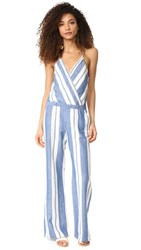 Young Fabulous And Broke Yfb Clothing Jett Jumpsuit Blue White