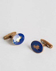 Polo Ralph Lauren Player Cufflinks Gold