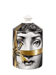 Fornasetti Regalo Gold Otto Scented Candle With Lid White Black