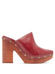 Jacquemus Sabots Leather Clog Mules Burgundy