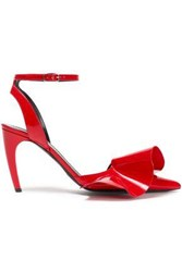 Proenza Schouler Woman Ruffled Patent Leather Pumps Red