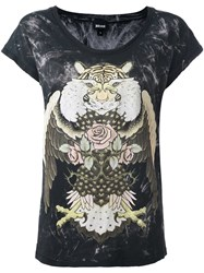 Just Cavalli 'Animals' Print T Shirt Black
