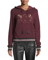 Coach Rexy And Carriage Graphic Pullover Hoodie Red