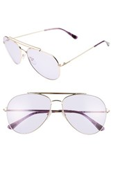 Tom Ford Women's Indiana 60Mm Aviator Sunglasses Rose Gold Striped Purple Rose Gold Striped Purple