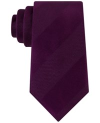 Sean John Men's Dressy Solid Stripe Tie Purple