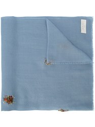Janavi Beetles Scarf Blue
