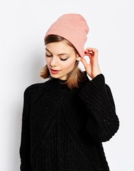 Hat Attack Lightweight Knit Slouchy Beanie Heather Coral Pink