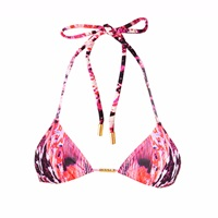 Look Z Swimwear Pink Chain Bikini Top Pink Purple