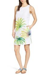 Tommy Bahama Cricue De Palm Shift Dress White