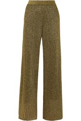 Missoni Lurex Wide Leg Pants Gold