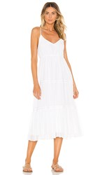 Line And Dot Lora Dress In White.