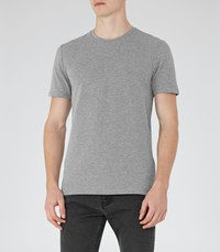 Reiss Shine Mens Honeycomb Weave T Shirt In Grey