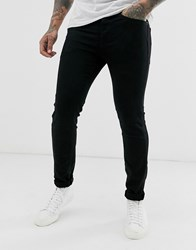 Selected Homme Skinny Fit Organic Cotton Jeans In Black Wash