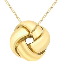 Ibb 9Ct Gold Knot Pendant Yellow Gold