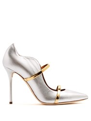 Malone Souliers Maureen Leather Pumps Silver Gold