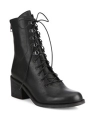 Ld Tuttle The Below Leather Combat Booties Black