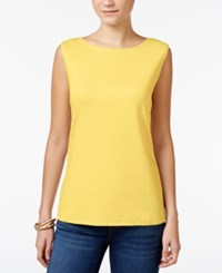 Karen Scott Boat Neck Tank Top Only At Macy's Buttercup Yellow
