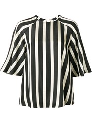 Msgm Striped Raglan Blouse Nude Neutrals
