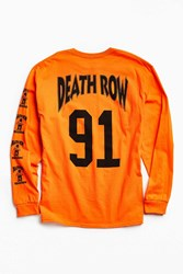 Urban Outfitters Death Row '91 Long Sleeve Tee Orange