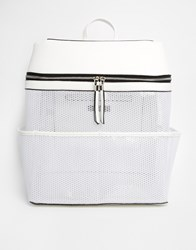 New Look Perspex And Mesh Backpack White