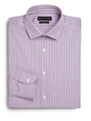 Ralph Lauren Black Label Tailored Fit Sloan Striped Dress Shirt Berry