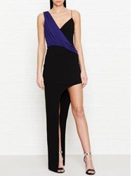 Versus By Versace Draped Open Side Maxi Dress Black