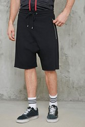Forever 21 French Terry Drop Crotch Shorts Black