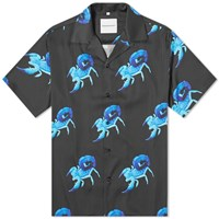 Nasaseasons Scorpion Print Vacation Shirt Black