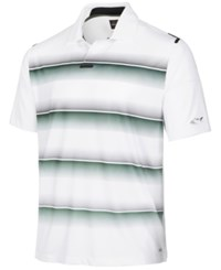 Greg Norman For Tasso Elba Mmg Eng Fade Stripe Polo Only At Macy's Bright White