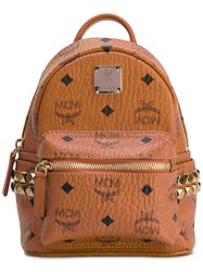Mcm Baby 'Stark' Backpack Women Leather One Size Brown