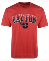 Colosseum Men's Dayton Flyers Gradient Arch T Shirt Red