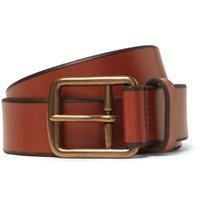 Polo Ralph Lauren 3Cm Tan Leather Belt Brown