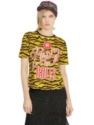 House Of Holland Printed Cotton T Shirt