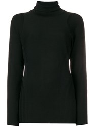 Y 3 Roll Neck Jumper Black