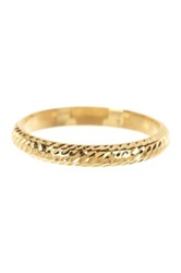 14K Yellow Gold Diamond Cut 3Mm Band Metallic