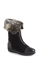 Aquatalia By Marvin K By Marvin K. 'Wanda' Quilted Cap Toe Boot Women Black Suede