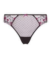 Aubade Embroidered Lace Thong Black