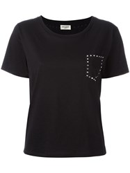 Saint Laurent Studded Pocket T Shirt Black