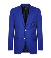 Billionaire Peak Lapel Jacket Male Blue