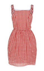 Holly Fulton Mini Dress With Embellished Straps Red