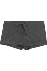 Bodas Montana Brushed Cotton Pajama Shorts Anthracite