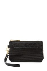 Poverty Flats Faux Leather Wristlet Black