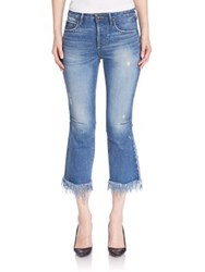 Tortoise Faded Cropped Jeans Blue