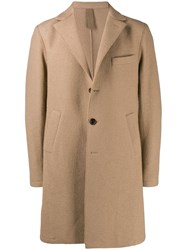 Eleventy Single Breasted Textured Coat Neutrals