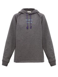 Acne Studios Fenton Video Print Jersey Hooded Sweatshirt Grey
