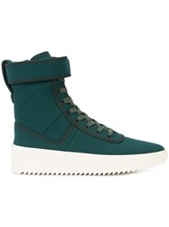Fear Of God Hi Top Ankle Strap Sneakers Green